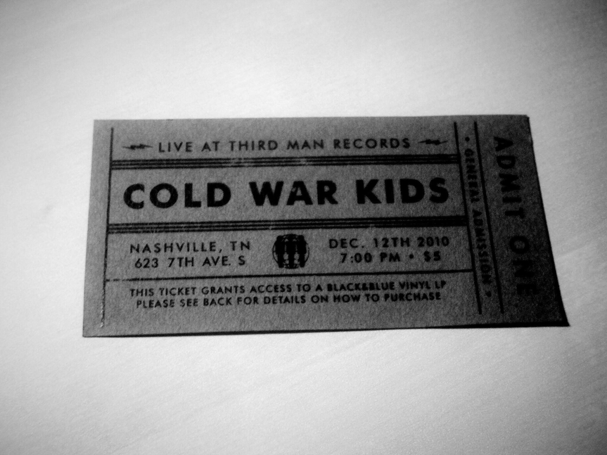 Cold War Kids Third Man Records