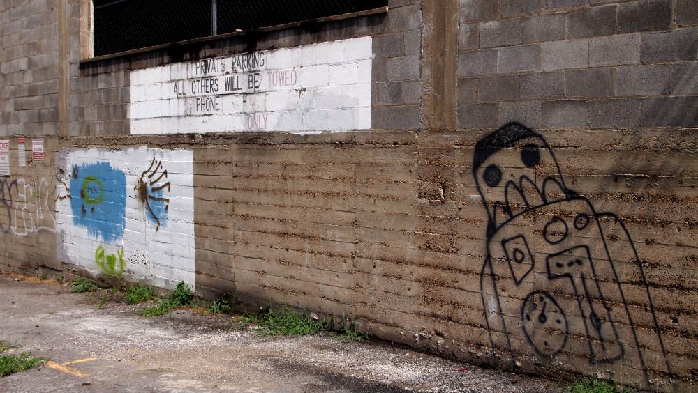 Robot Street Art Graffiti Nashville