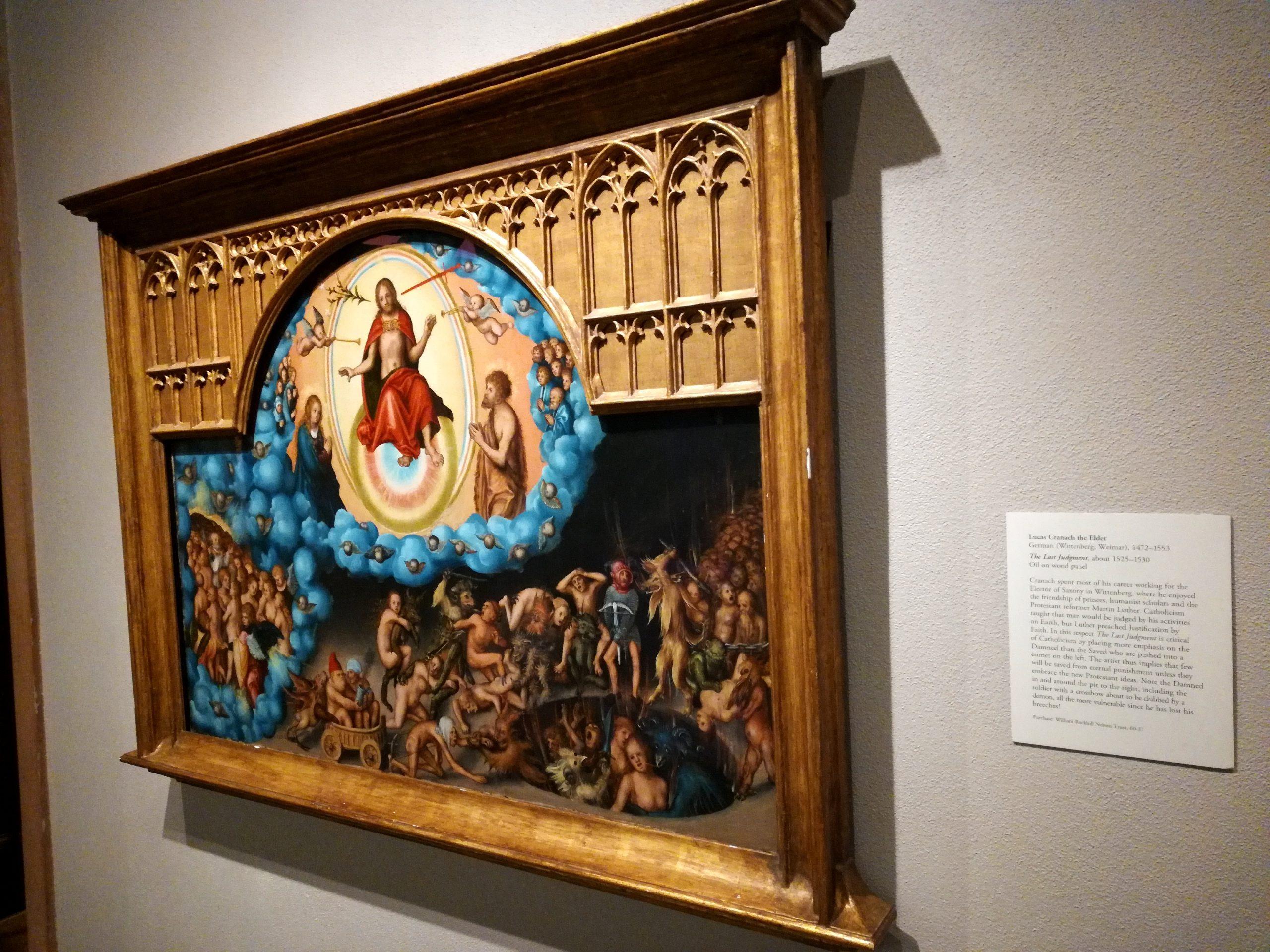 Lucas Cranach the Elder The Last Judgement Nelson-Atkins Museum of Art Kansas City KCMO