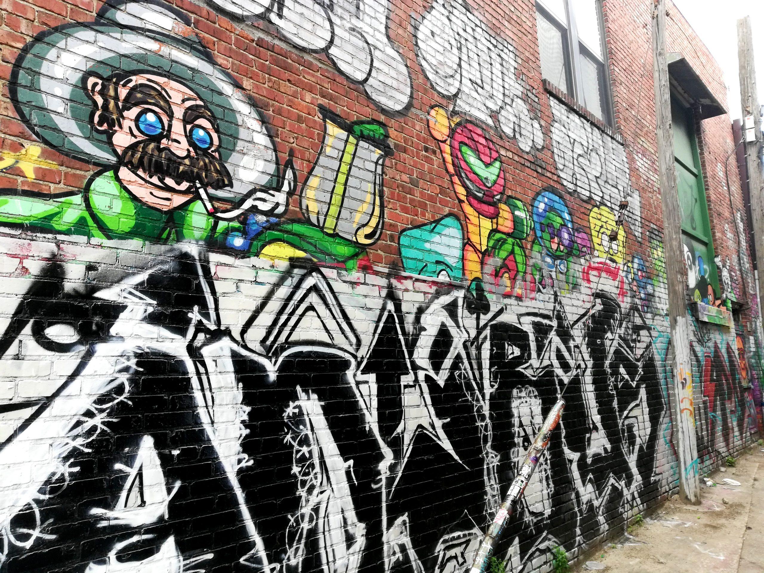Megaman Graffiti Kansas City Street Art KCMO