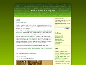 Screenshot of Greencode WordPress theme