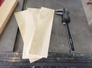 Resawn for the box sides.