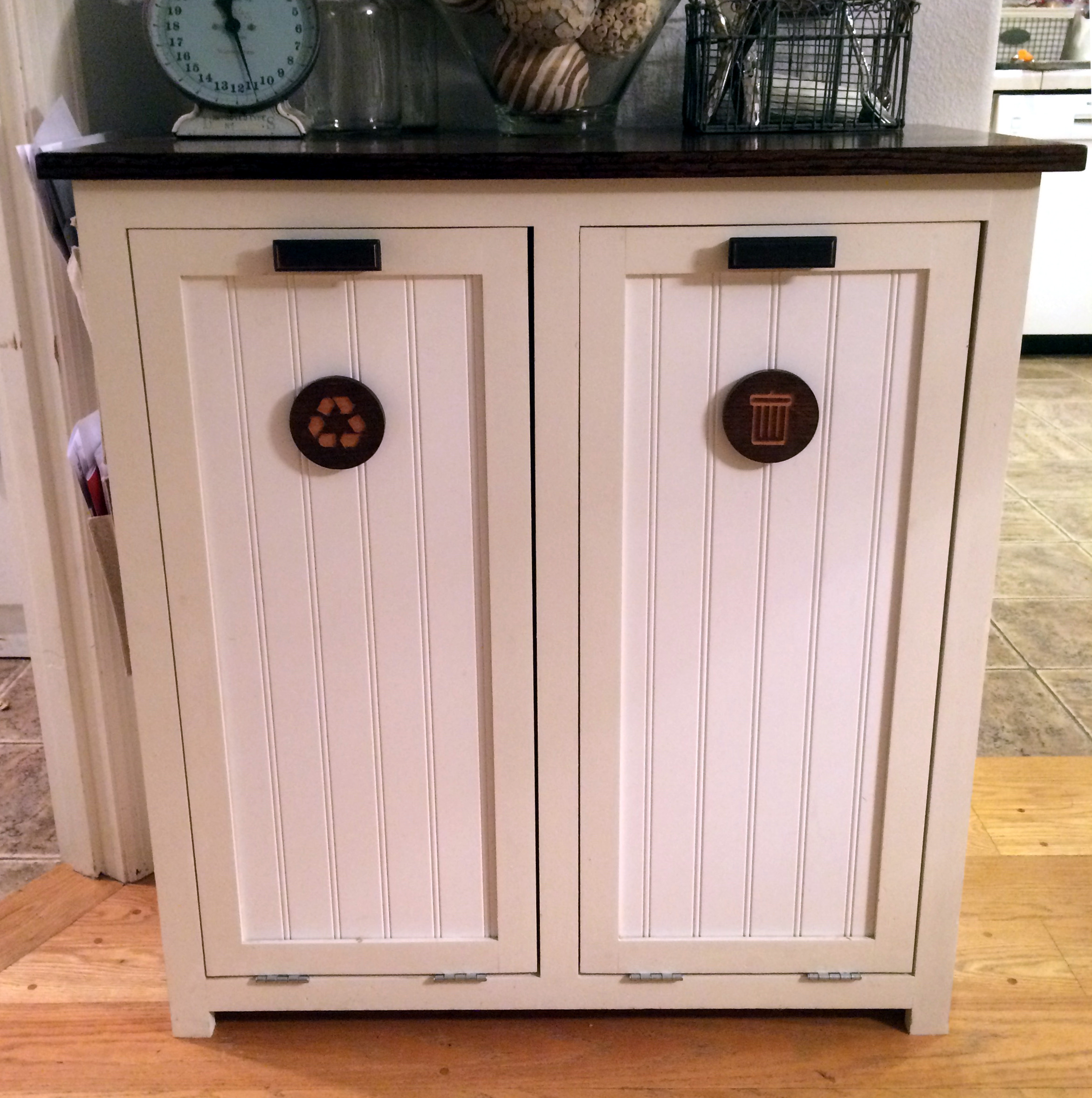 Garbage Can Cabinet Medallions