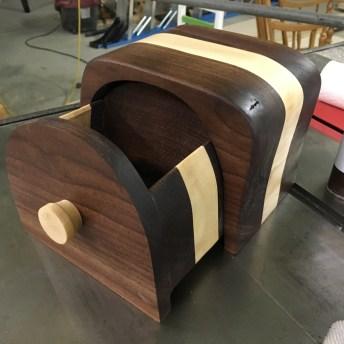 Walnut and Maple Bandsaw Box Drawer
