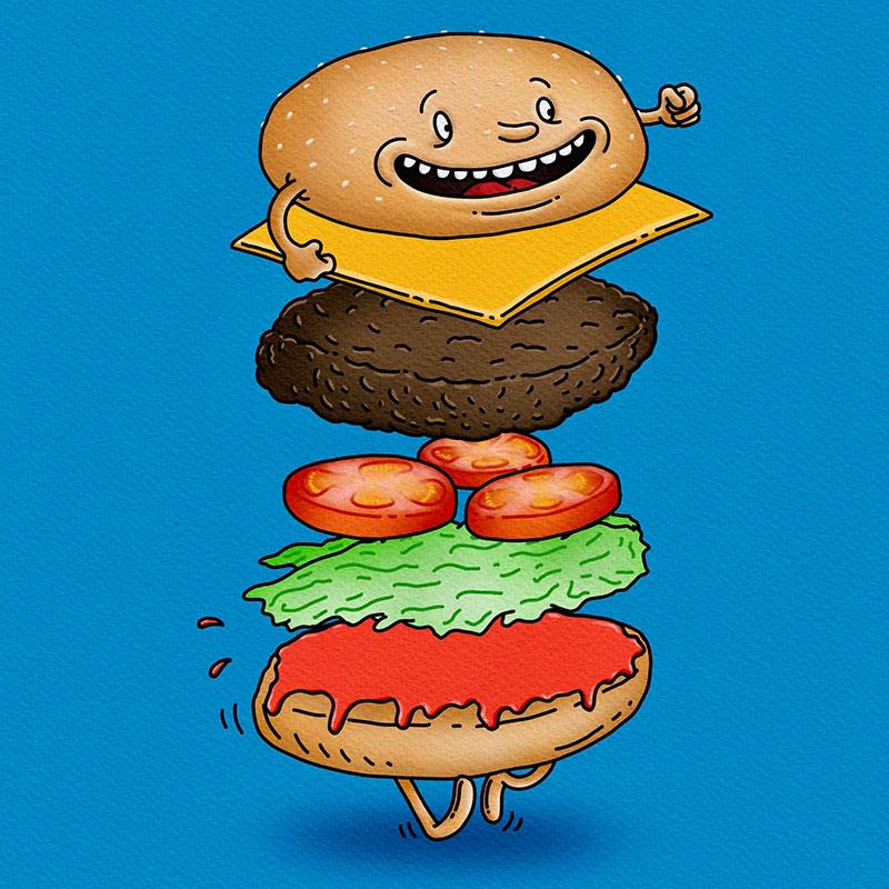 Burgerman Exploded