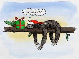 Sloth Whatever Christmas