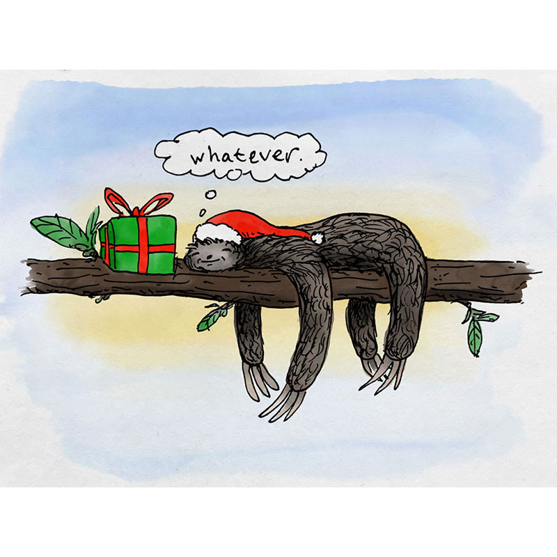 Sloth Whatever Christmas