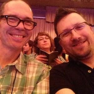 Photograph of Terry Starbucker and Chris Garrett