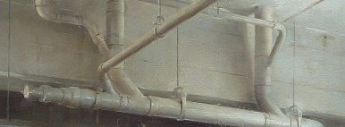 Ceiling Pipes, oil, detail