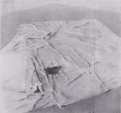 Drop Cloth, Woodstock Studio, 2010 Charcoal and graphite on paper, 17 x 18 in. $4500
