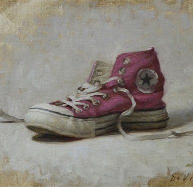 Christopher Gallego Blog | Featured Artist: Grace Mehan Devito | Image: Pink Converse