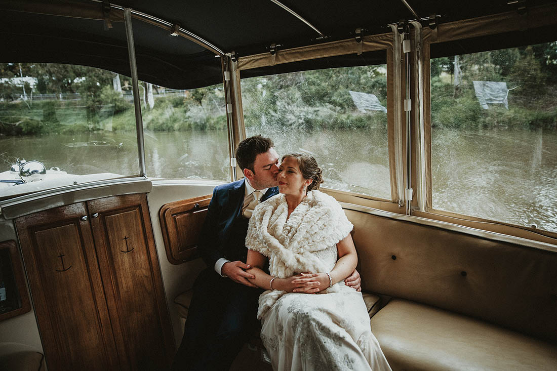 Emotional Wedding Photography on a boat