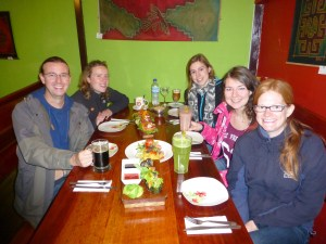 Dinner at Green Point, Cusco