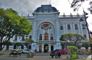 One of the beautiful buildings surrounding Plaza 25 de Mayo, Sucre