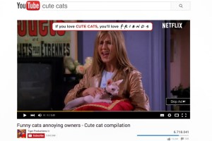 Netflix matches YouTube videos with scenes from Friends