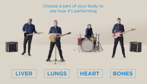 Interactive music video – is your body a health rock star?