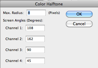 Color Halftone window