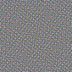Middle grey fill after Halftone Screen filter