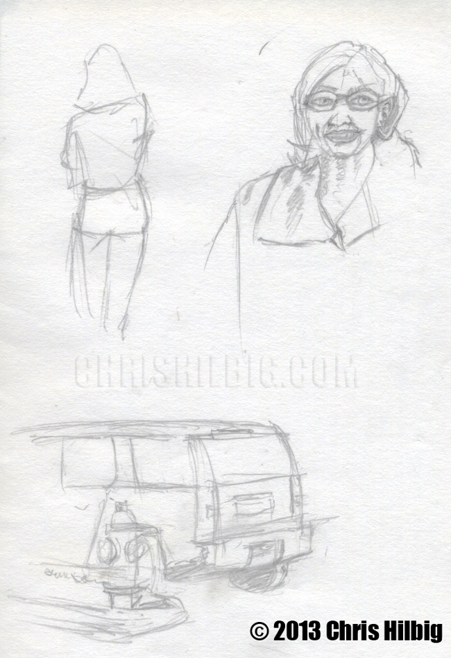 Sketches from out in the field.