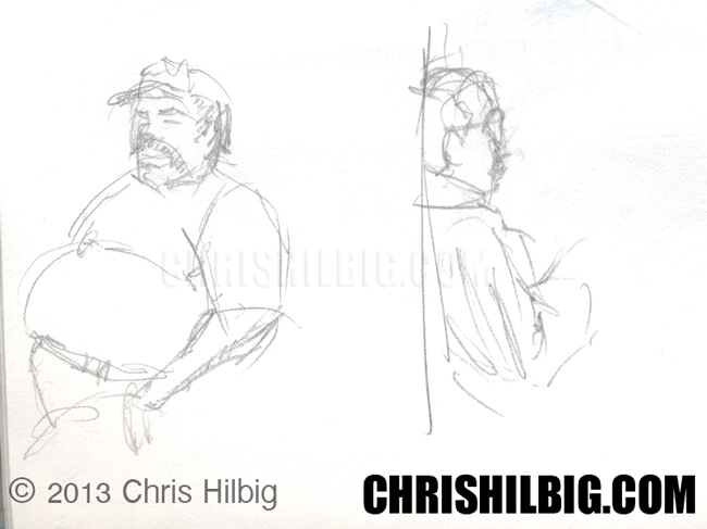 Sketches of people from one of my sketch pads.