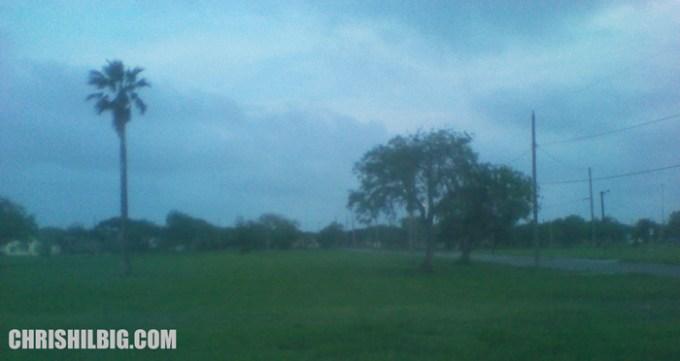 A field outside a ghetto neighborhood in Corpus Christi, Texas