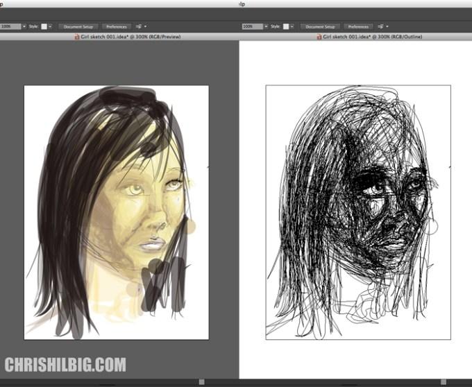 View my Adobe Ideas image in Illustrator CS 6