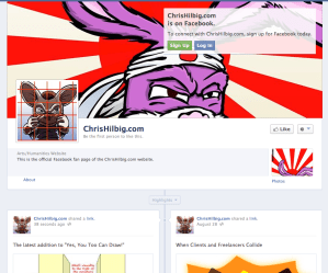 ChrisHilbig.com's FaceBook Page is Live! (For Real This Time)