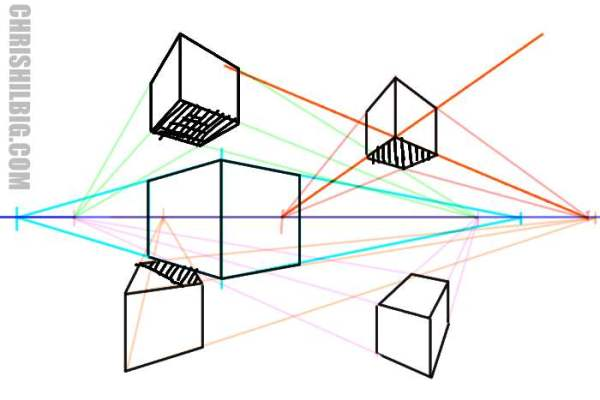 variations in two-point perspective