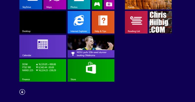 Windows 8.1 touch screen interface