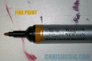 Fine or Bullet tip of watercolor marker