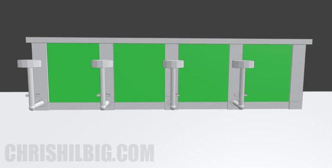 The final render of bar from Blender 3D