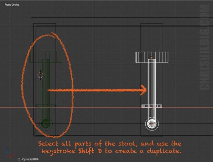 Duplicate objects by use the keystroke Shift D.