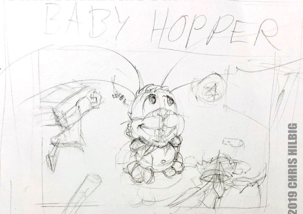 final rough that I made while making kid's book cover
