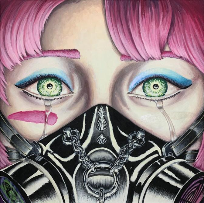 """Hana's Gaze"" Painted using Turner Acryl Gouache"