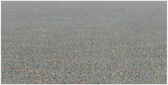 two million plastic beverage bottles