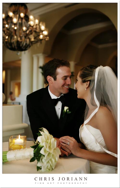 bride groom entryway