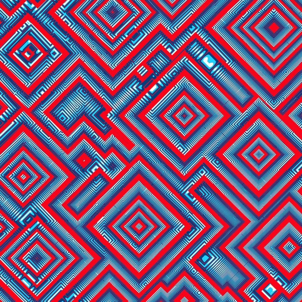 Procedurally generated illustrated pattern