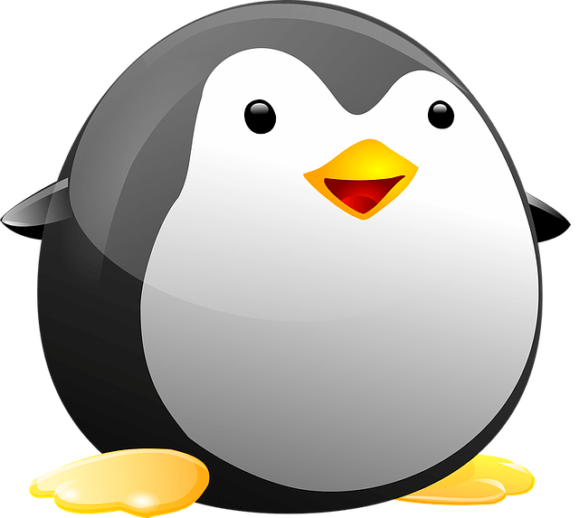 Fat Linux penguin