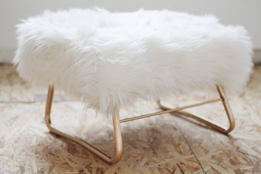 cheap glider chair wedding rental a and revamped ottoman - chris loves julia