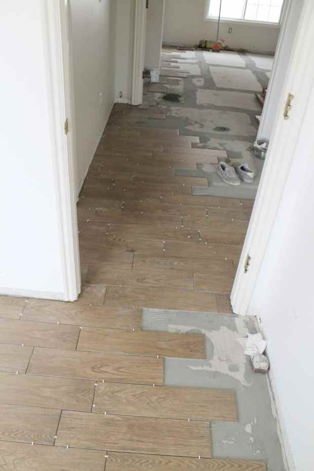 Faux Wood Ceramic Tile Home Design Ideas