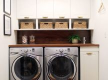 Before and After: A Bathroom Turned Laundry Room - Chris ...