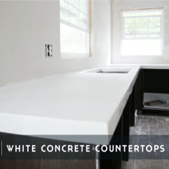Different Kinds Of Kitchen Countertops Pottery Barn Rugs Diy White Concrete - Chris Loves Julia