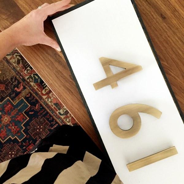 Diy Modern Traditional House Number Plaque - Chris Loves Julia