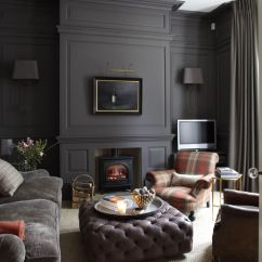 Living Rooms With Dark Grey Feature Walls Great Room Colours Bringing Wall-to-wall Carpet Back - Chris Loves Julia