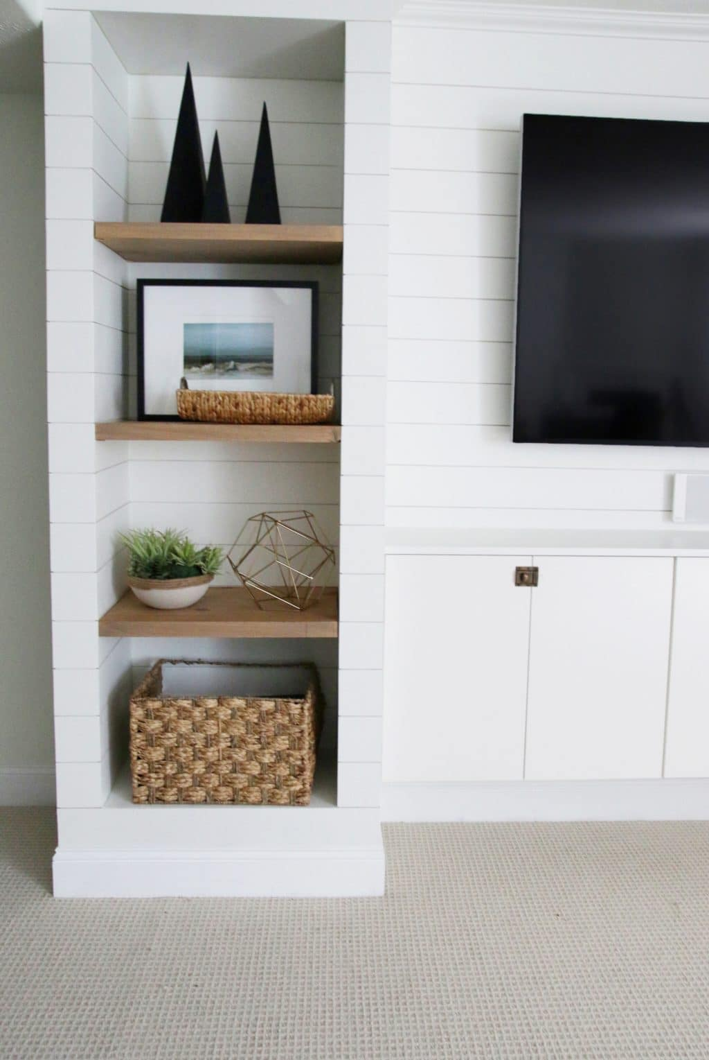 DIY Shiplapped BuiltIns Finished and Styled  Chris