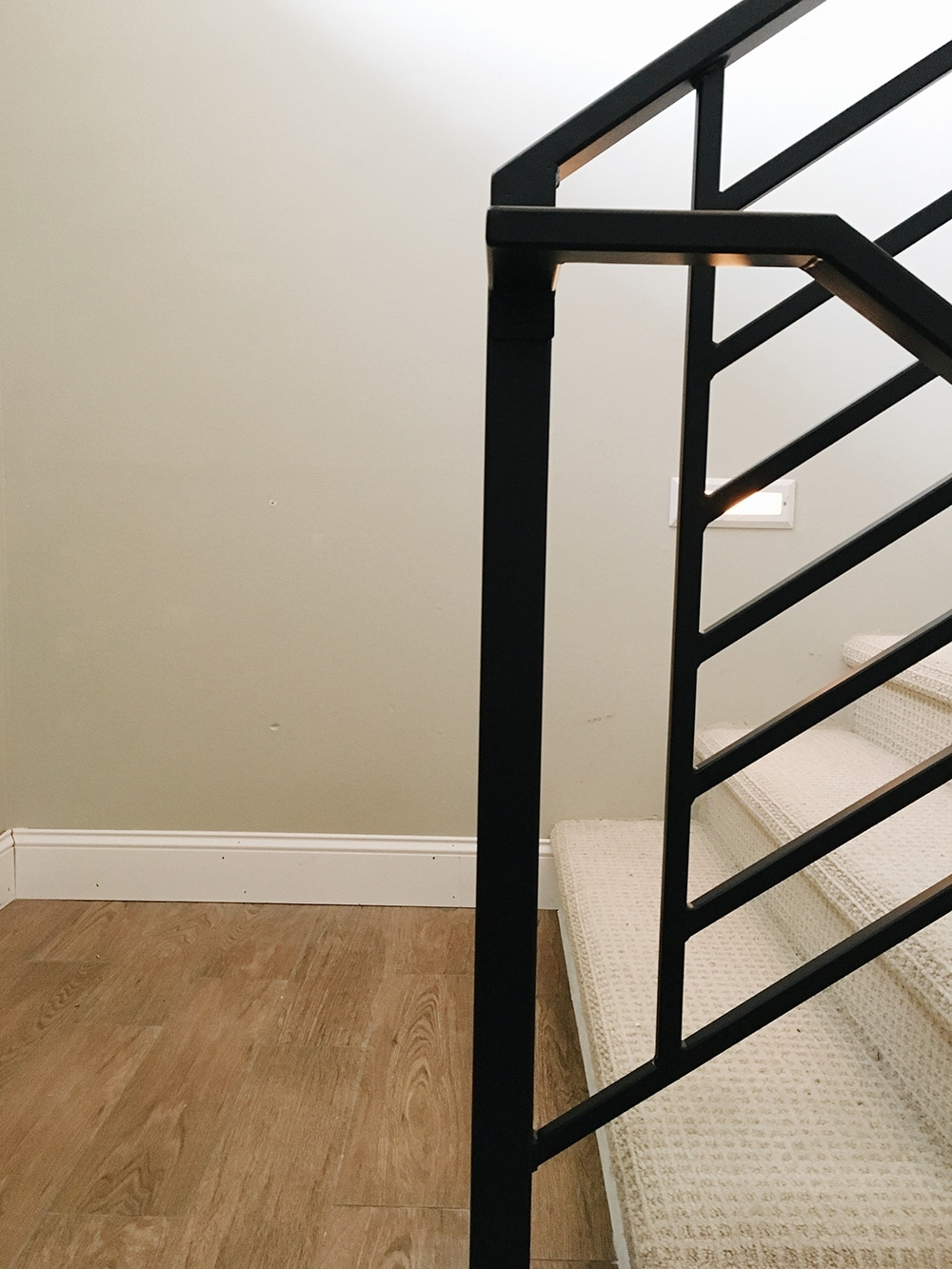 All The Details On Our New Horizontal Stair Railing Chris Loves   Horizontal Iron Stair Railing   Chris Loves   Modern   Popular   Low Cost   Remodel