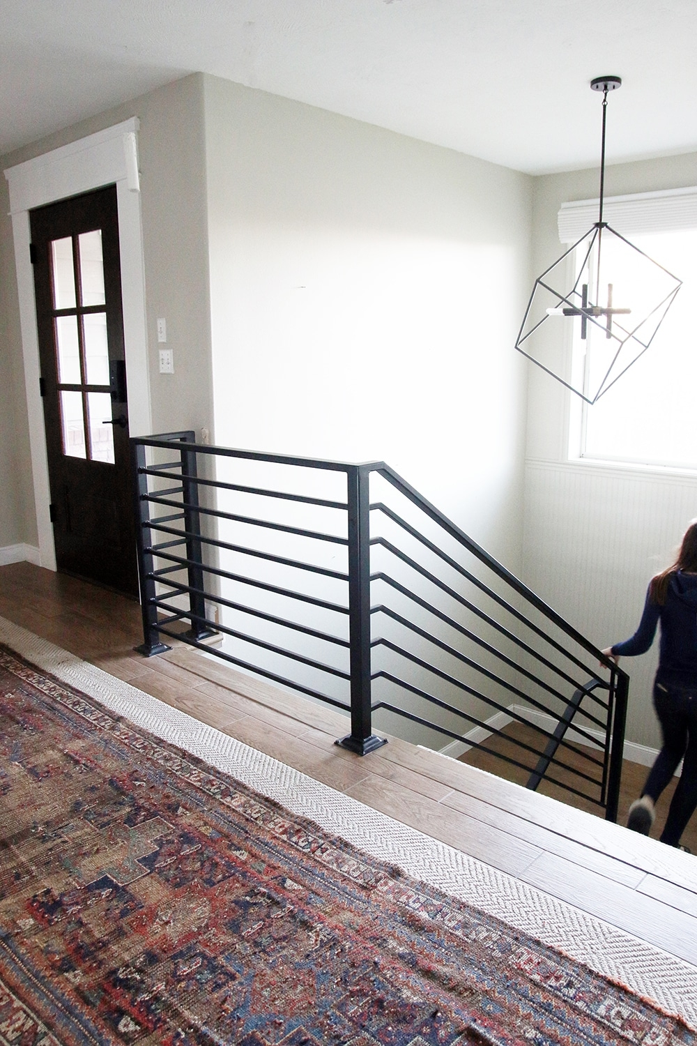All The Details On Our New Horizontal Stair Railing Chris Loves | Wrought Iron Stair Railing Cost | Banister | Traditional | Home | Commercial Rod Iron | Stair Heavy