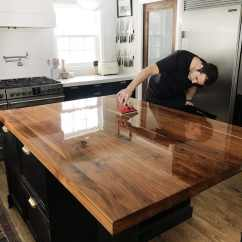 Diy Refinish Kitchen Cabinets 6 Piece Table Sets How We Refinished Our Butcher Block Countertop - Chris ...