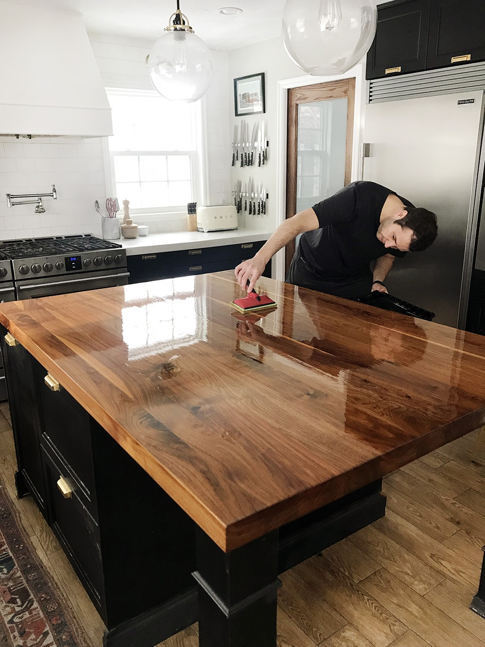 Staining Birch Butcher Block Countertops