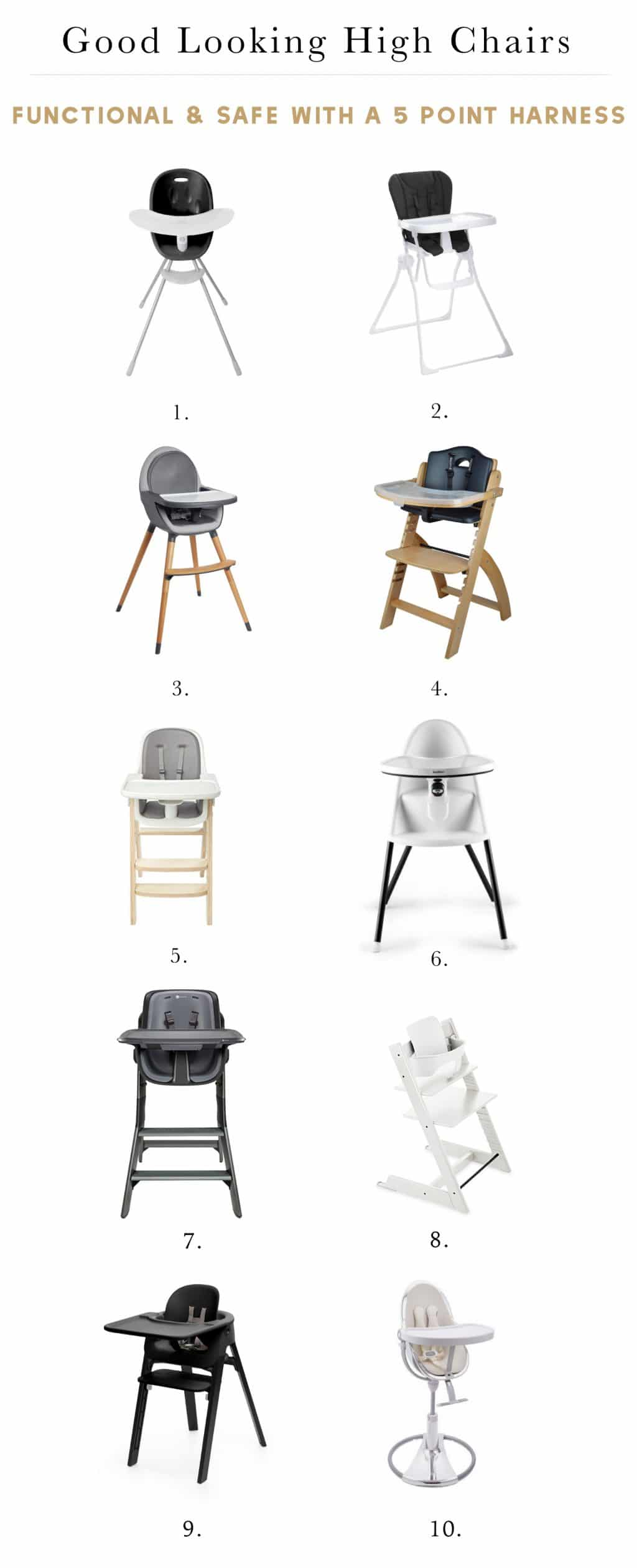 10 Really Good Looking High Chairs That Are Also Safe And